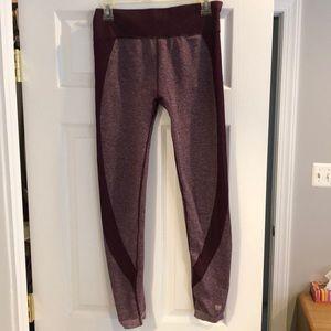 Long maroon workout pants